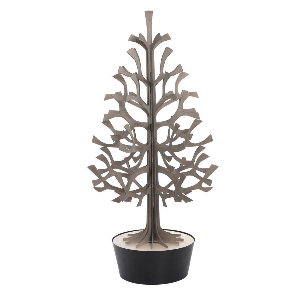 Lovi Spruce 120cm, grey with black pot, wooden 3D figure