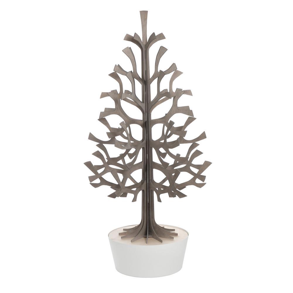 Lovi Spruce 120cm, grey with white pot, wooden 3D figure