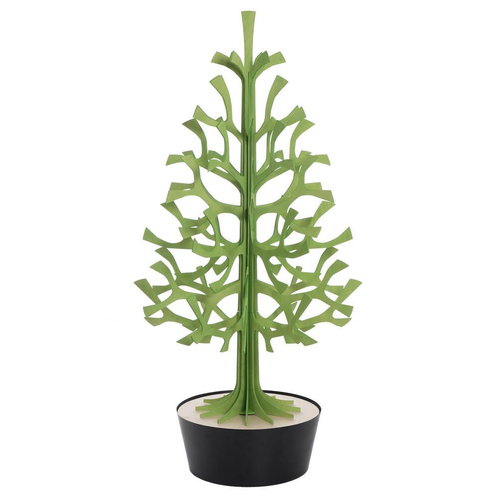 Lovi Spruce 120cm, light green with black pot, measures