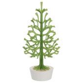 Lovi Spruce 120cm, light green with white pot, wooden 3D puzzle