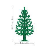 Lovi Spruce 14cm, wooden 3D puzzle, measures