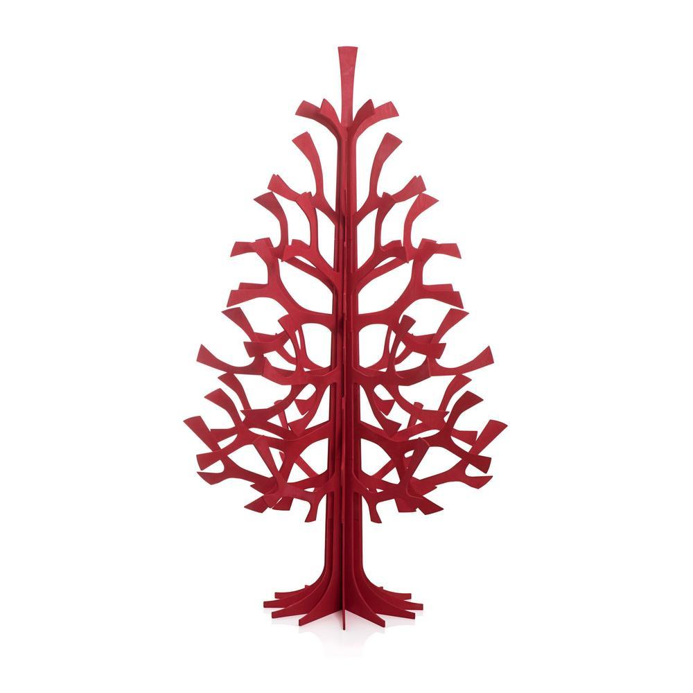 Lovi-kuusi 180cm, kirkkaanpunainen, koottava puinen kuusi