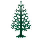 Lovi-kuusi 180cm, tummanvihreä, koottava puinen kuusi