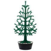 Lovi Spruce 180cm, dark green with black pot, wooden 3D figure