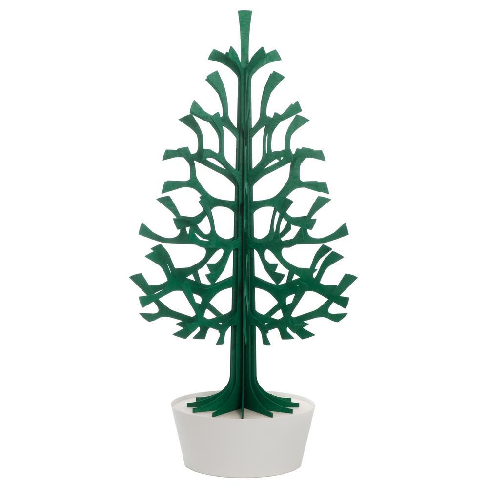 Lovi Spruce 180cm, dark green with white pot, wooden 3D figure