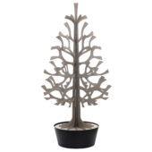Lovi-kuusi 180cm, harmaa mustassa ruukussa, koottava puinen kuusi