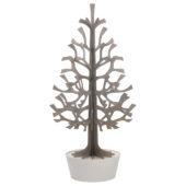 Lovi Spruce 180cm, grey with white pot, wooden 3D figure