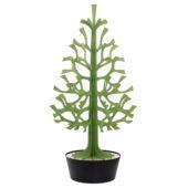 Lovi-kuusi 180cm, vaaleanvihreä mustassa ruukussa, koottava puinen kuusi