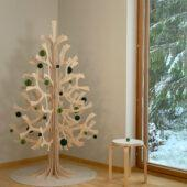 Lovi Spruce 180cm with Lovi Baubles, wooden 3D figure