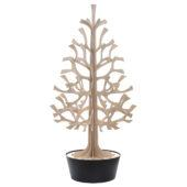 Lovi-kuusi 180cm, puunvärinen mustassa ruukussa, koottava puinen kuusi