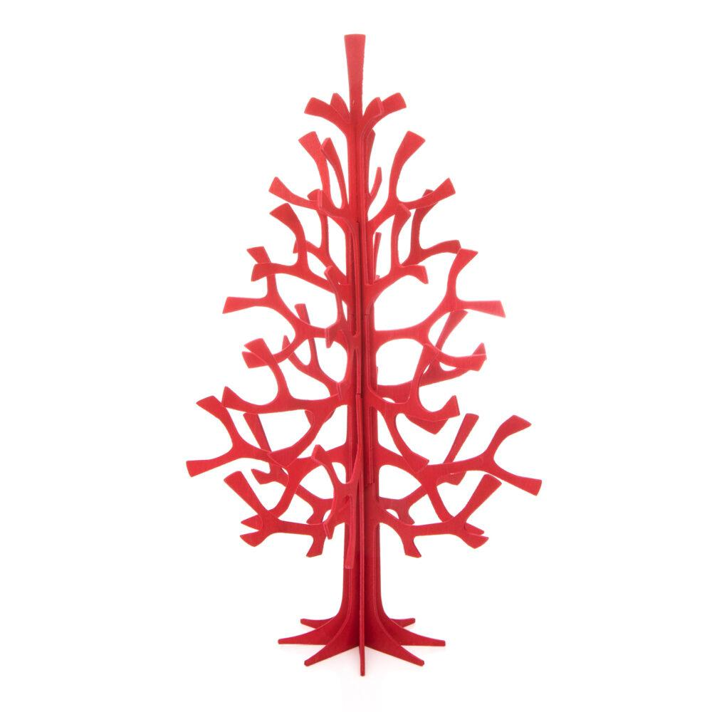 Lovi Spruce, bright red, wooden 3D figure
