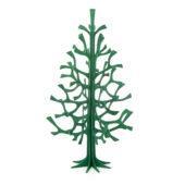 Lovi-kuusi 25cm, tummanvihreä, koottava puinen kuusi