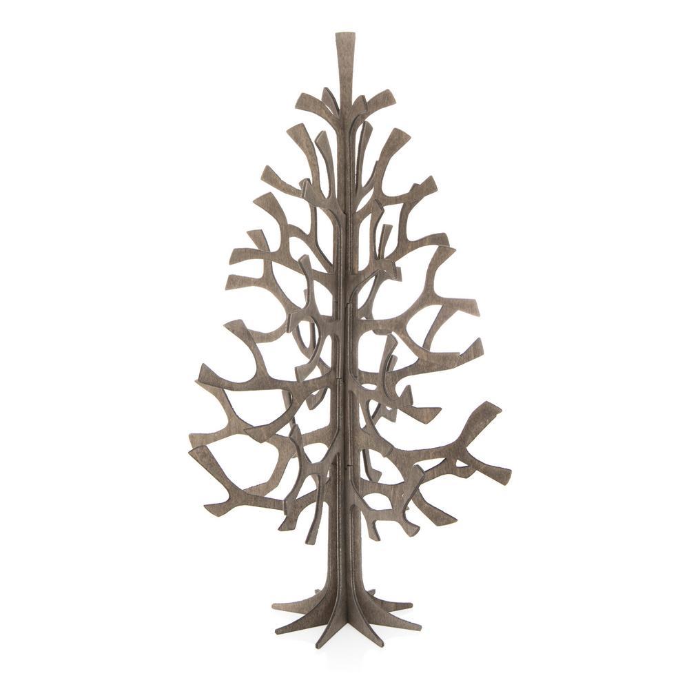 Lovi-kuusi 25cm, harmaa, koottava puinen kuusi