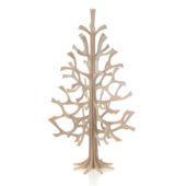 Lovi-kuusi 25cm, puunvärinen, koottava puinen kuusi