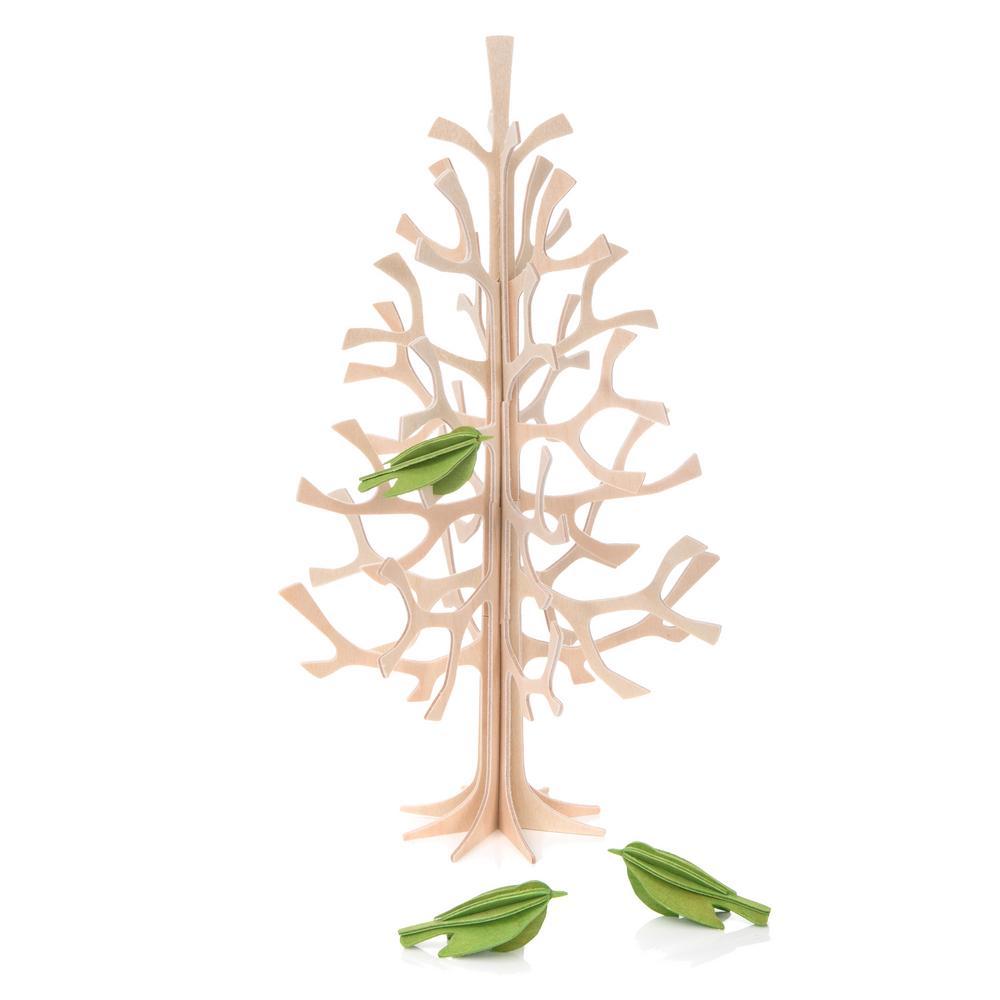 Lovi Minibirds on Lovi Spruce 25cm, wooden 3D puzzles