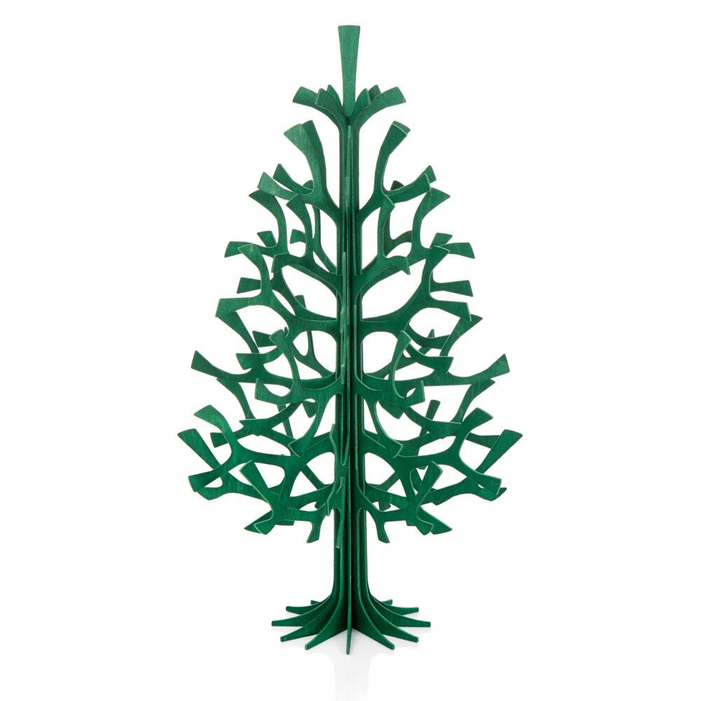 Lovi-kuusi 50cm, tummanvihreä, koottava puinen kuusi