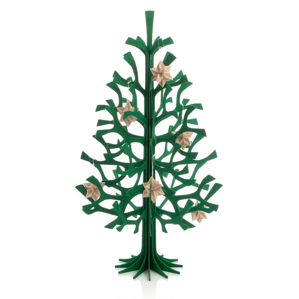 Lovi Spruce 50cm dark green with 5cm natural wood Lovi Stars