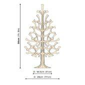 Lovi Spruce 50cm, wooden 3D puzzle, measures