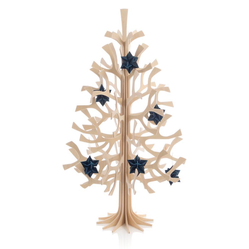 Lovi Spruce 50cm natural wood with 5cm dark blue Lovi Stars 5cm