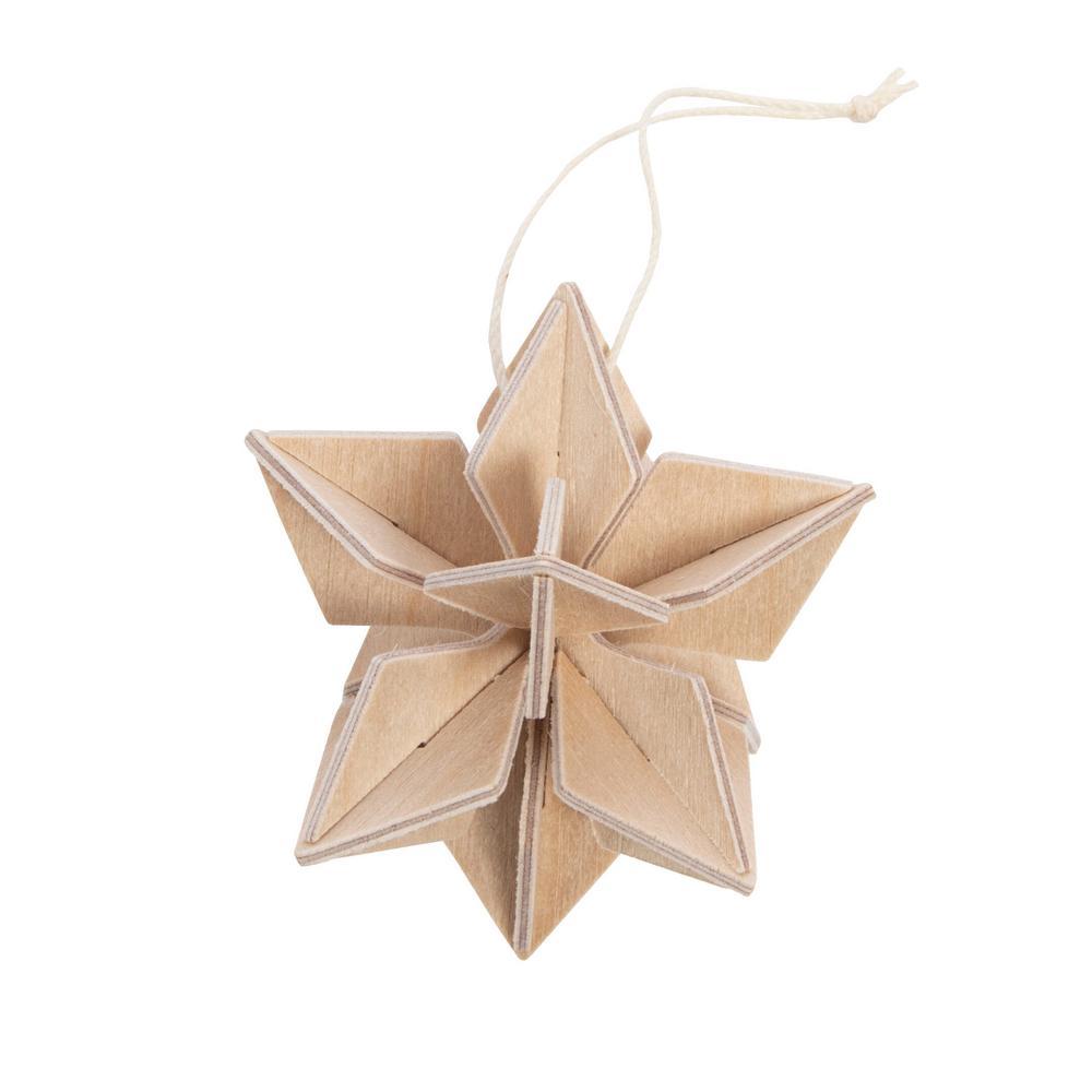 Lovi Star 5cm, natural wood, wooden 3D puzzle