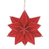 Lovi Star, bright red, wooden 3D puzzle