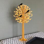 Lovi-puu 55cm, Lovi-pääskyt 10cm oksillaan, koivuvanerista valmistettu, koottava puu