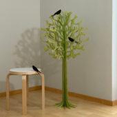 Lovi Tree 108cm with Lovi Swallows, wooden 3D figure