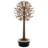 Lovi Tree 135cm, brown with black pot, wooden 3D figure