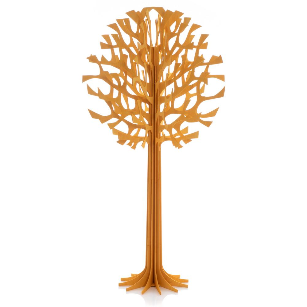 Lovi Tree 135cm, warm yellow, wooden 3D figure