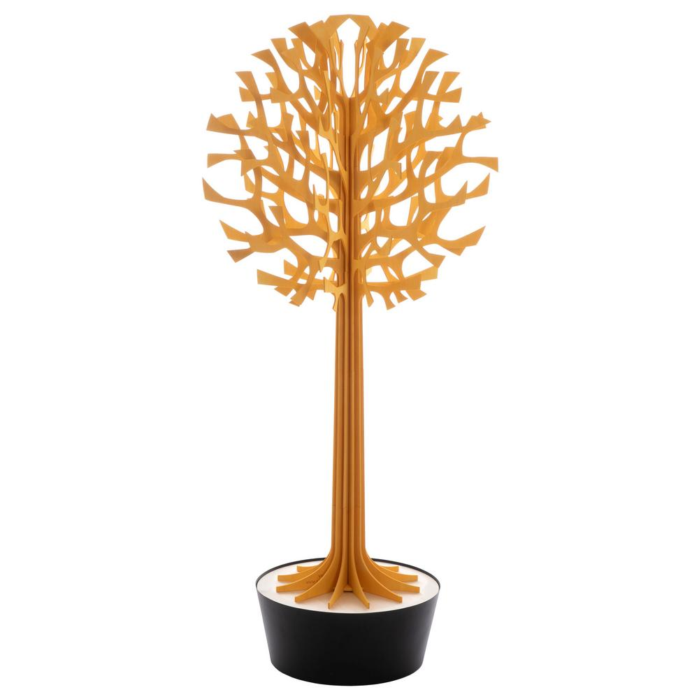 Lovi Tree 135cm, warm yellow with black pot, wooden 3D figure