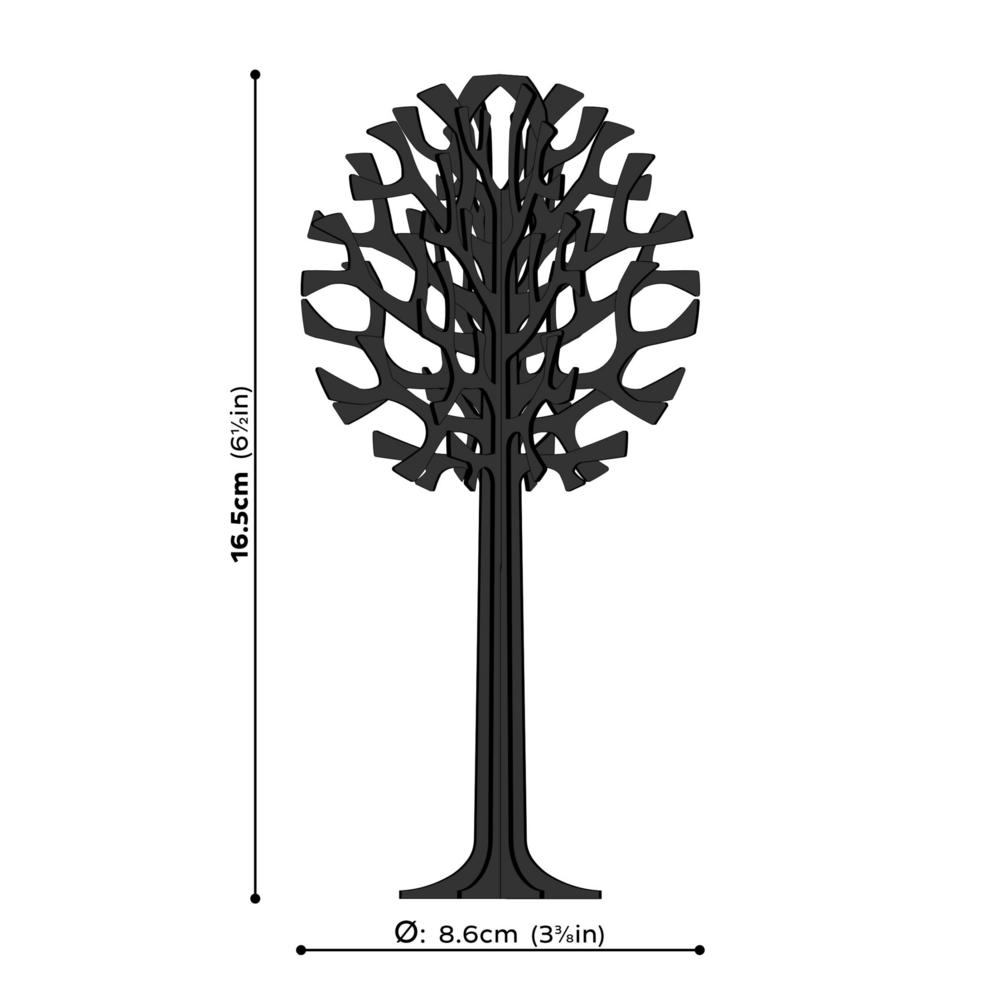 Lovi Tree 16,5cm, wooden 3D puzzle, measures