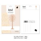 Lovi Tree 16,5cm, wooden 3D puzzle, package with measures