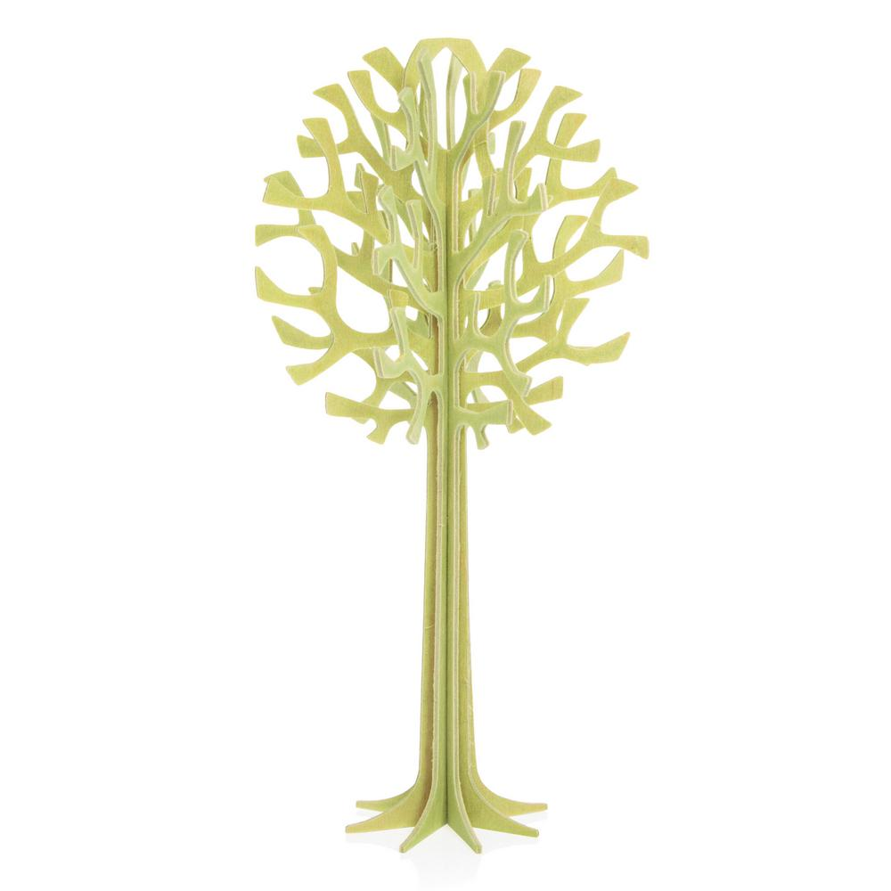 Lovi Tree 16,5cm, pale green, wooden 3D puzzle