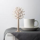 Lovi Tree 16,5cm, natural wood with coffee cup, wooden 3D puzzle