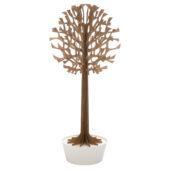 Lovi Tree 200cm, brown with white pot, wooden 3D figure