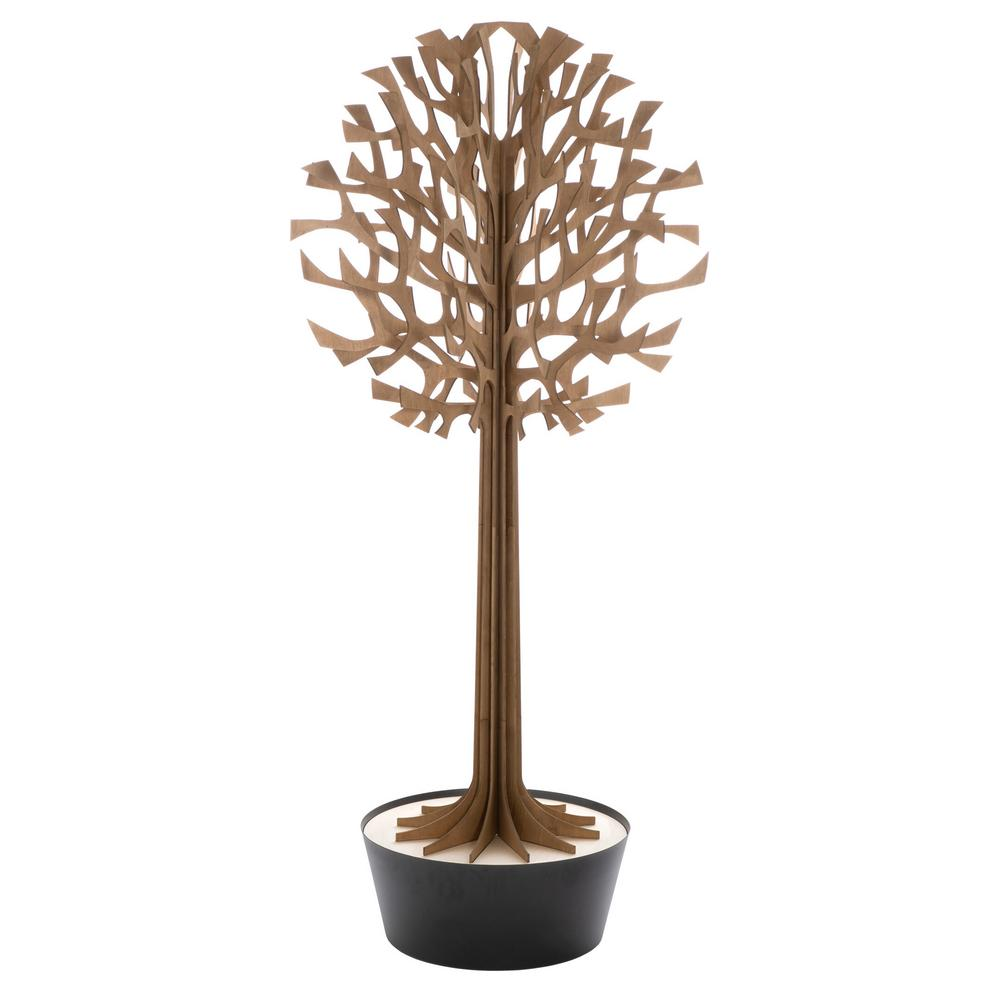 Lovi Tree 200cm, brown with black pot, wooden 3D figure