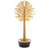 Lovi Tree 200cm, warm yellow with black pot, wooden 3D figure