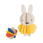 Miffy and Ball by Lovi, paint yourself, wooden 3D puzzle