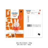 Miffy ja ilmapallo, maalattava ja koottava puinen Lovi-hahmo, pakkaus, mitat ja paino