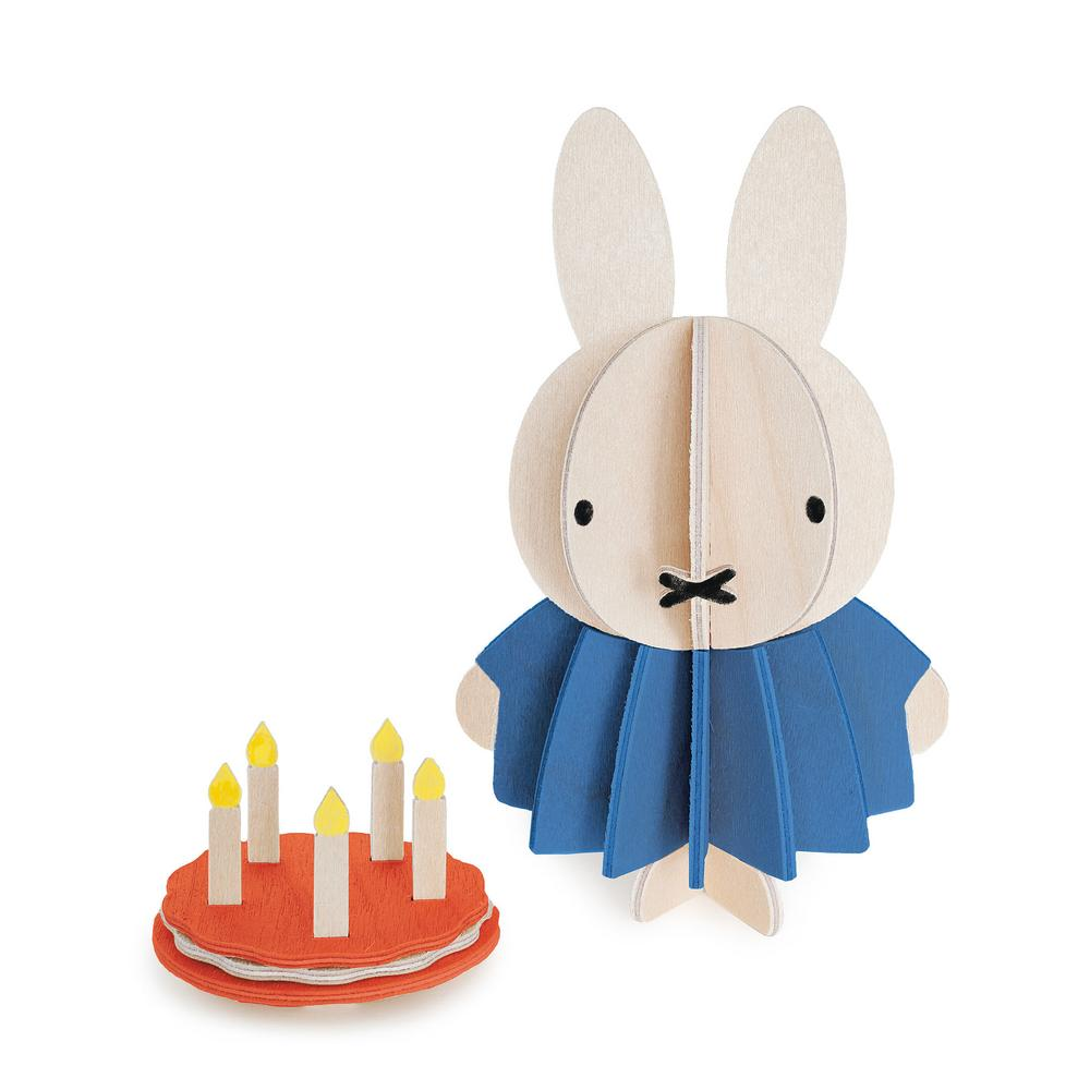 Miffy and Cake by Lovi, paint yourself, wooden 3D puzzle