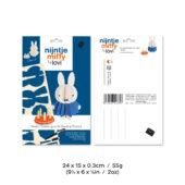Lovi Miffy & Cake, wooden 3D puzzle, package with measures