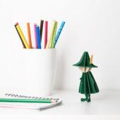 Snufkin by Lovi with colors pencils and notepad, wooden 3D puzzle