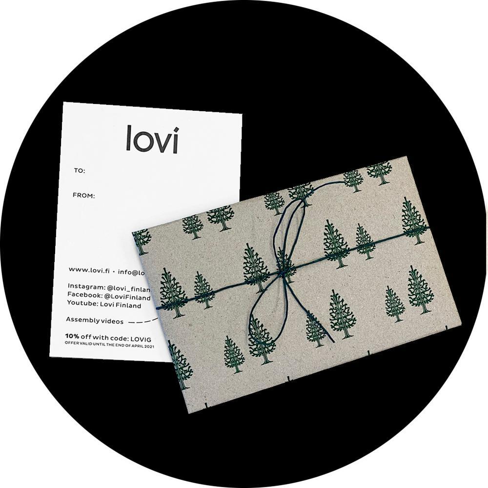 Lovi Gift Wrap Dark Green Spruces