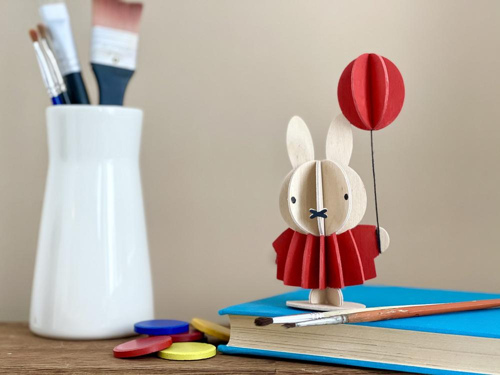 Miffy & Balloon by Lovi on the book, wooden 3D puzzle