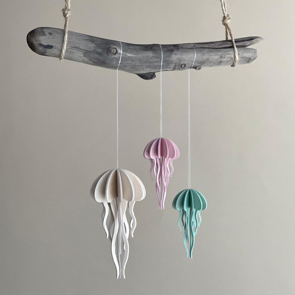 Lovi Jellyfish, wooden 3D figures