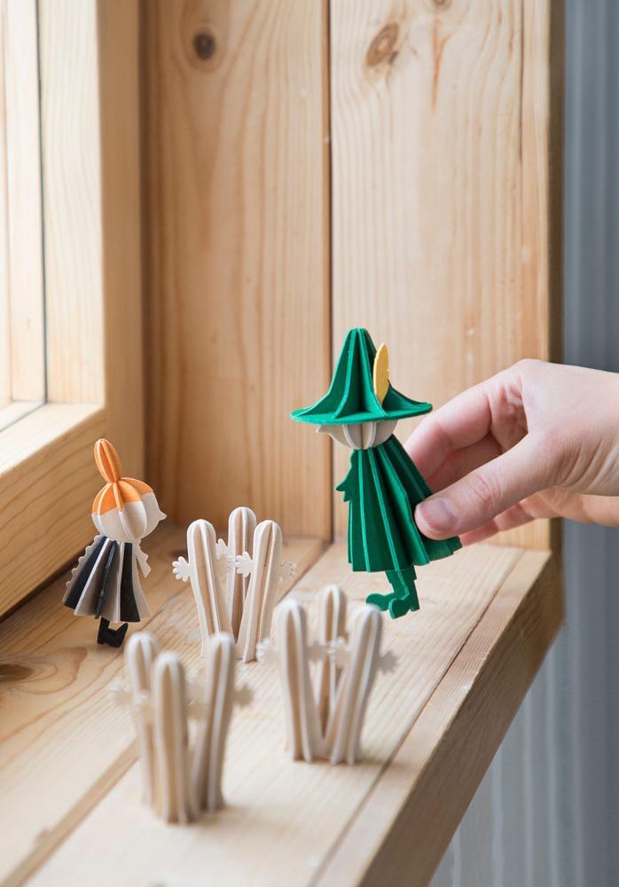 Little My, Hattifatteners and Snufkin by Lovi, wooden 3D figures