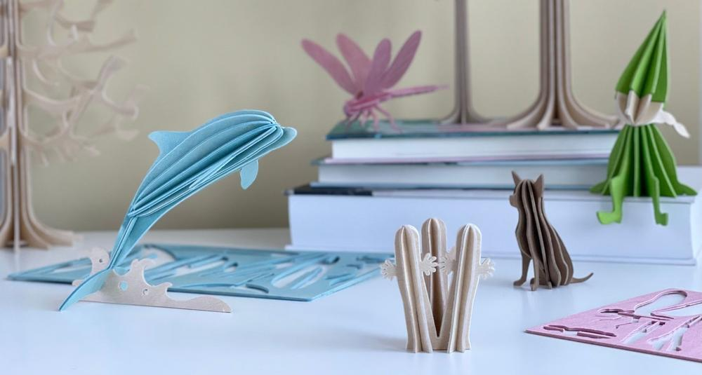 Wooden 3D figures from Lovi