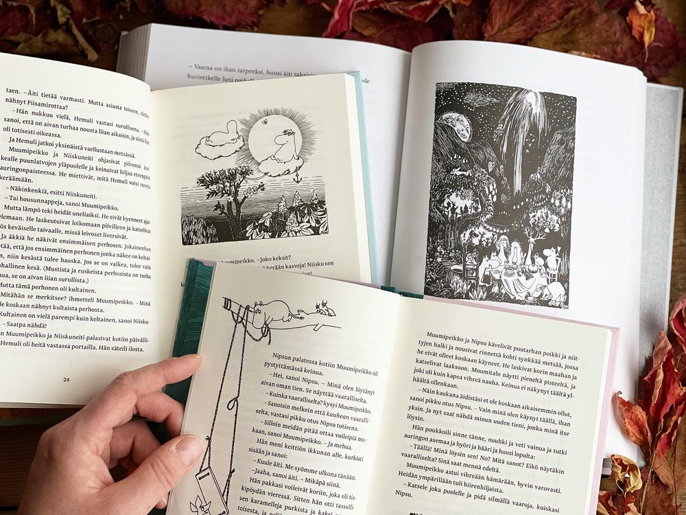 Moomin characters on the Moomin books by Tove Jansson